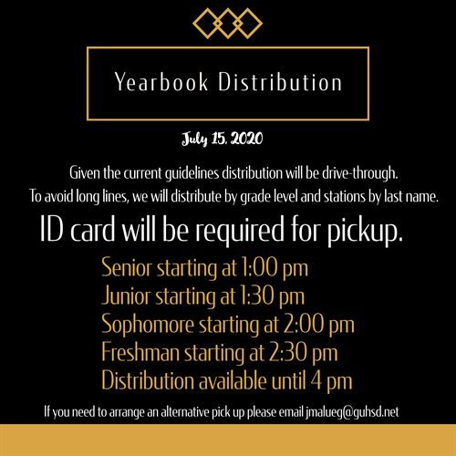 Yearbook Distribution July 15